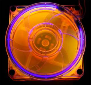 80mm UV Orange Cold Cathode Fan CCFL FAN KIT CASE MOD