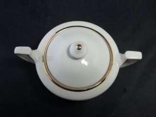 Vintage Johann Haviland Bavaria Germany Creamer Sugar Bowl Ivory Gold