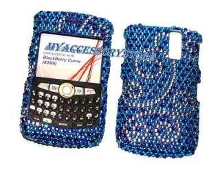 Sprint Blackberry Curve 8350i Flora Rhinestones Glitter Bling Phone