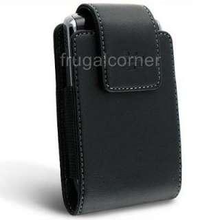 New Original OEM BlackBerry Premium Black Leather Phone Case Pouch
