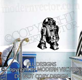 R2D2 STAR WARS Vinyl Wall Decal Kids Room Bedroom Decor R2 D2