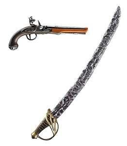 POTC JACK SPARROW LICENSED DISNEY TOY PISTOL SWORD SET