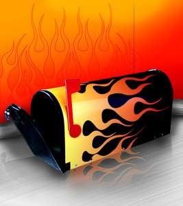 Aesthetic Finishers Hot Rod Flamed Mailbox