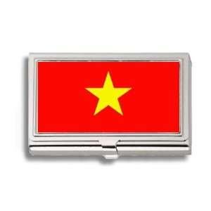 Vietnam Vietnamese Flag Business Card Holder Metal Case