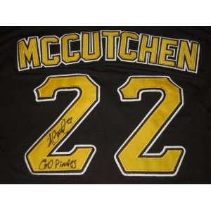 Andrew Mccutchen Signed Autographed Inscribed Go Pirates Jersey