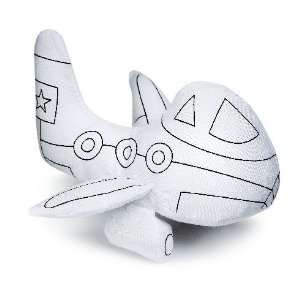 Jet Plane Plush Toy to color   Ganz Stuffed Animal
