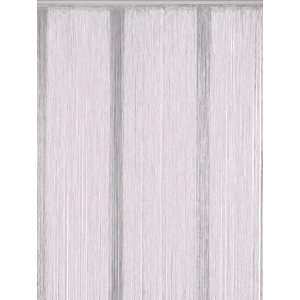 Bacati White String Curtain Panel