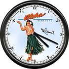 Sailor Jerry Rum Tattoo Girl Rockabilly Sign Wall Clock
