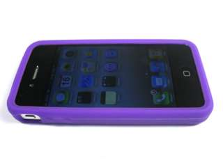 SILICON RUBBERIZED SOFT GEL SKIN CASE COVER APPLE IPHONE 4 4S