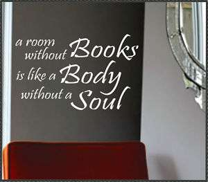 Vinyl Wall Lettering Art Words Quotes Without Books