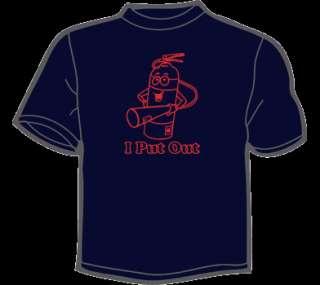PUT OUT T Shirt MENS funny vtg firefighter fireman