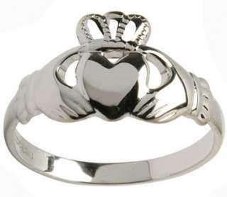 Sterling Silver Celtic Irish Claddagh Ring