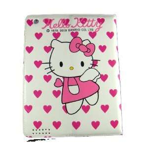 Pink Faux Leather Magnetic Case/Cover with Hearts for Ipad 1 2 3 by