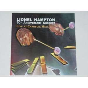 50th Anniversary Concert Live at Carnegie Hall Lionel Hampton Music