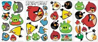Angry Birds, + Pigs Mobile Game Peel & Stick Wall Stickers Appliques