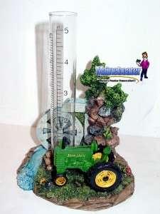 John Deere Tractor Water Wheel Scene Rain Gauge 29004
