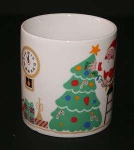 Avon Christmas Collectible Coffee Mug Santa Reindeer