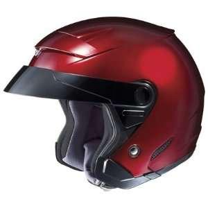 HJC FS 3 Open Face Motorcycle Helmet Solid Colors Wine
