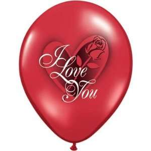 Valentines Day Balloons  I Love You Latex Balloons, 100 Toys & Games