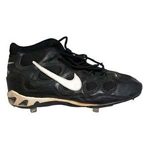 Unsigned Game Used Black Nike High Top Cleat: Sports & Outdoors