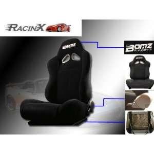 Black Universal Racing Seats   Pair Automotive