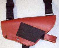 Brown Leather Shoulder Holster Fits Glock 9mm .40 .45