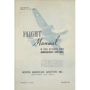 North American Aviation B 25 G Aircraft Flight Manual