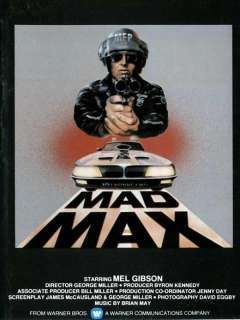 Mad Max 11 x 17 Movie Poster , Mel Gibson, Style G