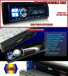 IN DASH DVD CD iPhone iPod Aux CAR STEREO PLAYER 9680