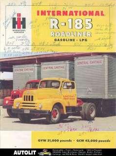 1955 International R185 Roadliner Truck Brochure