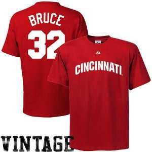 Majestic Cincinnati Reds #32 Jay Bruce Red Cooperstown Retro Player T