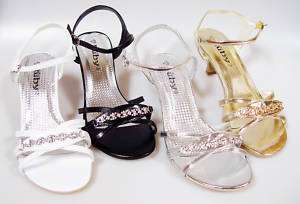 Elegant Rhinestone Bridal Wedding Pageant Prom Party Dress Sandal