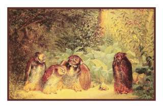 William Holbrook Beards Owls Bird Counted Cross Stitch Chart