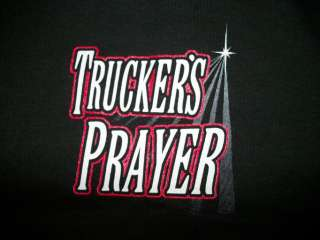 Truck Driver Tshirt Truckers Prayer Big Rig 18 Wheeler Road Route 66