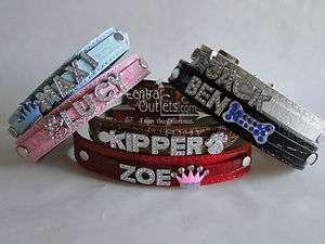 Personalized Collar Dog Cat Pet   Croc Texture XS, S, M, L, XL