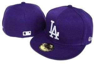 New Era 59fifty $35 Fitted MLB Hat LOS ANGELES DODGERS Purple Cap LA