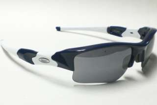 OAKLEY FLAK JACKET XLJ 24 010 BLUE WHITE SUNGLASES AUTH