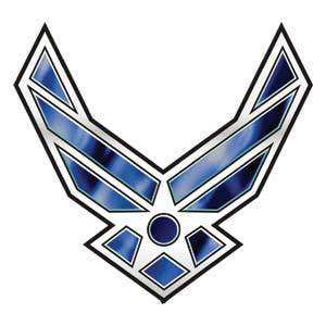 Military Air Force Wing emblem temporary tattoo, pkg 5