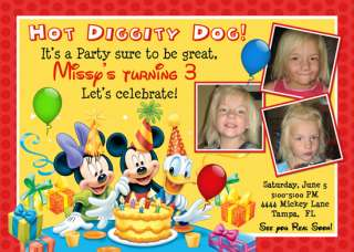 MICKEY MOUSE MINNIE MOUSE BIRTHDAY INVITATIONS