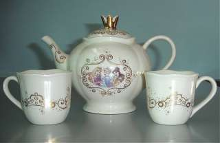 Lenox Disney Princess Tea Set With 2 Cups New