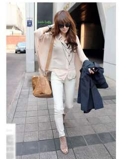 Fashion Casual Womens Chiffon Loose Batty T shirts Tops
