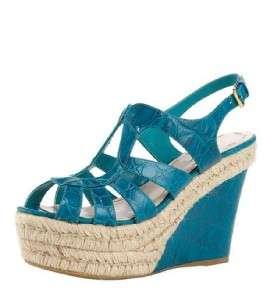 MIU MIU PRADA Snake Embossed Wedge Sandal Shoe 41 NIB