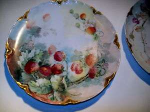 1900 HAVILAND LIMOGES FRANCE CABINET PLATE SIGNED, MINT