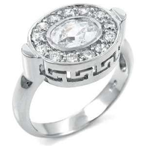 WOMENS STERLING SILVER CZ 11 ROUND BAND RING 5 6 7 8 9