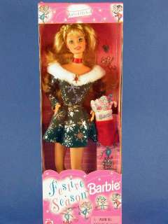 Festive Season Barbie Doll NRFB 18909 Happy Holidays 074299189098