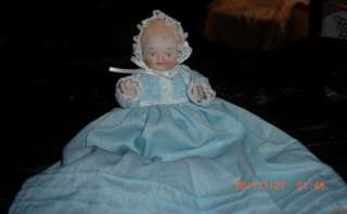 Porcelain Baby Doll with Christening Dress
