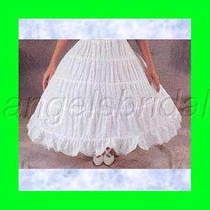 COTTON 4 HOOP BRIDAL WEDDING GOWN DRESS CIVIL WAR PETTICOAT CRINOLINE