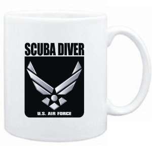 Mug White  Scuba Diver   U.S. AIR FORCE  Sports