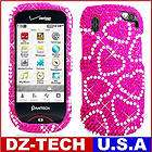 Pink Hearts Bling Hard Case Cover for Veriz