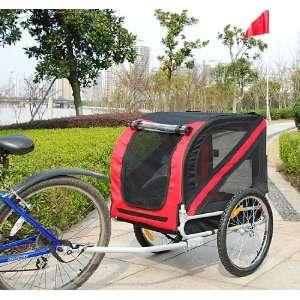 Pet DOG Bike Bicycle Trailer PET Carrier Red Black